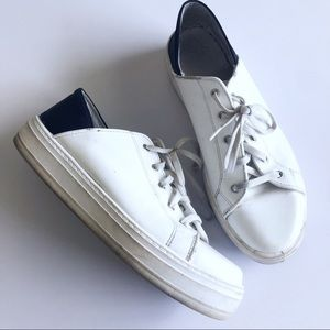 Other - Italian designer sneakers. White n black style!